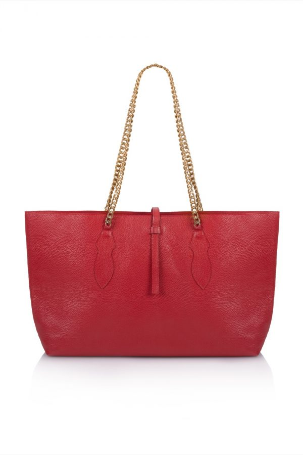 By Rory X Tea & Tequila Red Leather Tote | Collaborations | By Rory