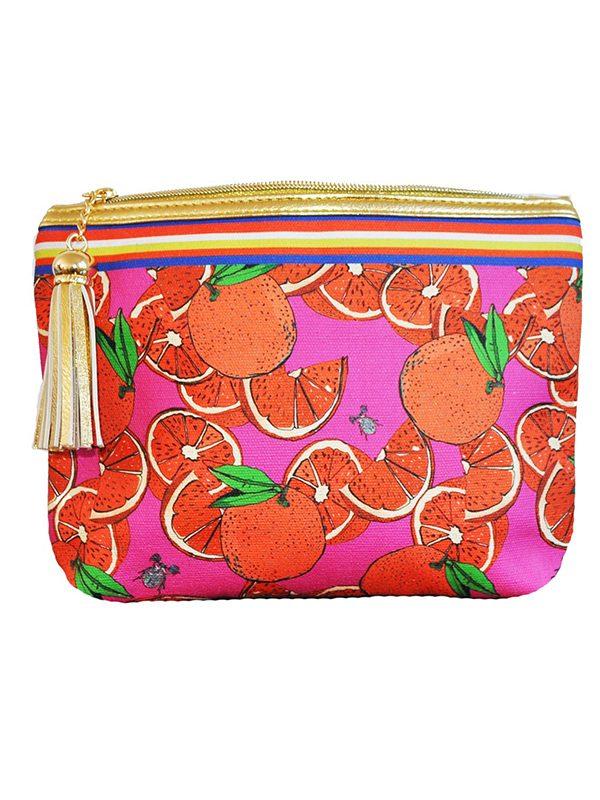 Oranges Make Up Bag
