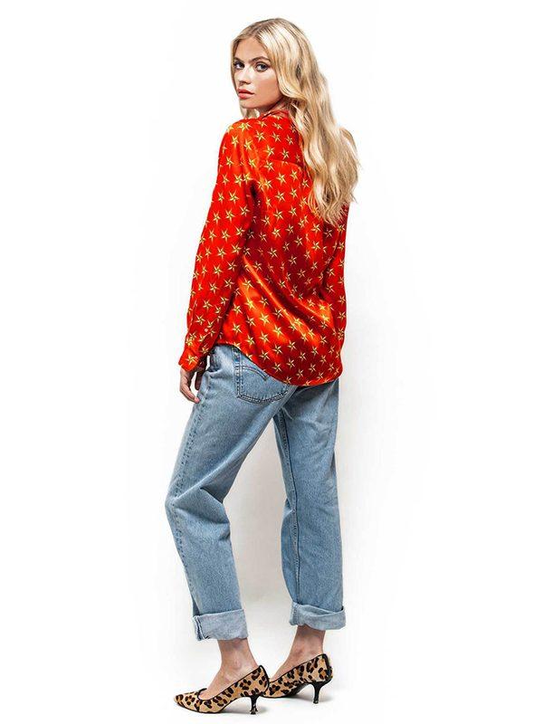 Stars & Swallows Slimline Silk Shirt