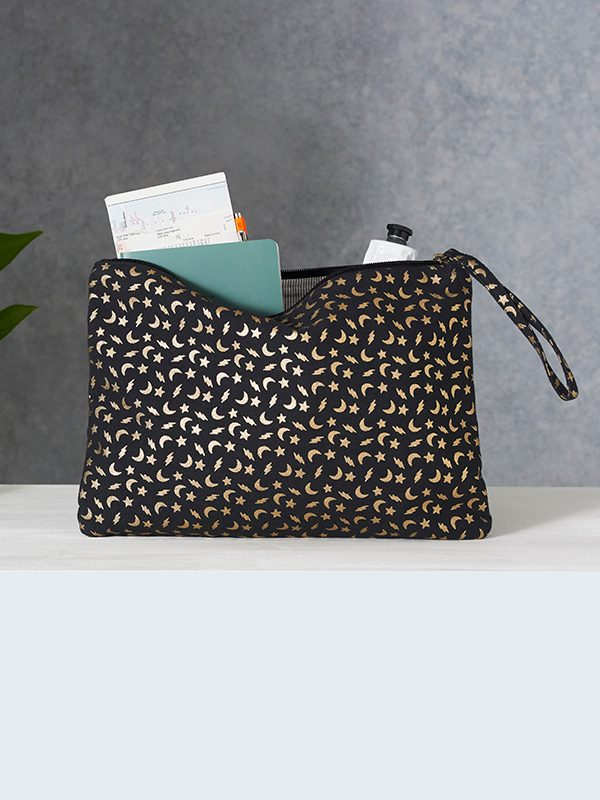 alohi celestial large clutch black