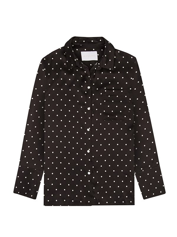 Mini Polka Silk Pyjama Top
