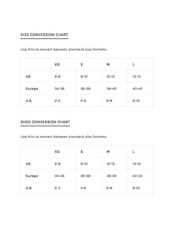 PB Size Chart