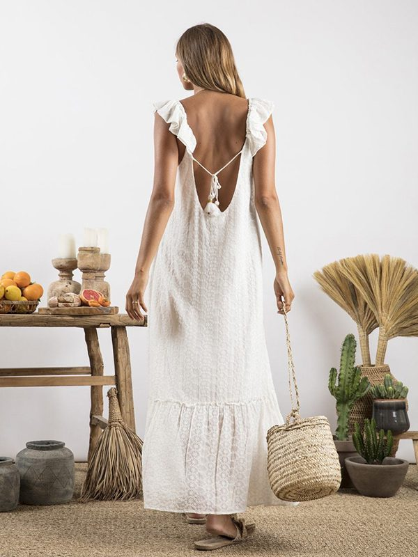 Long Georgette Off White