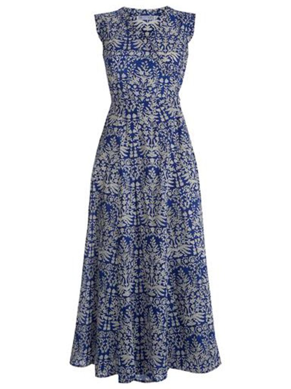 Sea Wrap Dress (Midnight Botanics)