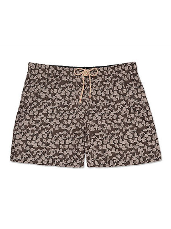 'Eat Girl' Swimming Trunks (Brown)