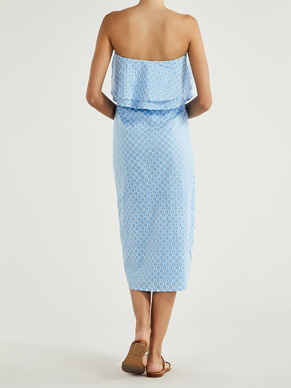 Harper Dress (Broderie Blue)