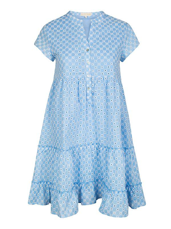 Mia Dress (Broderie Blue)