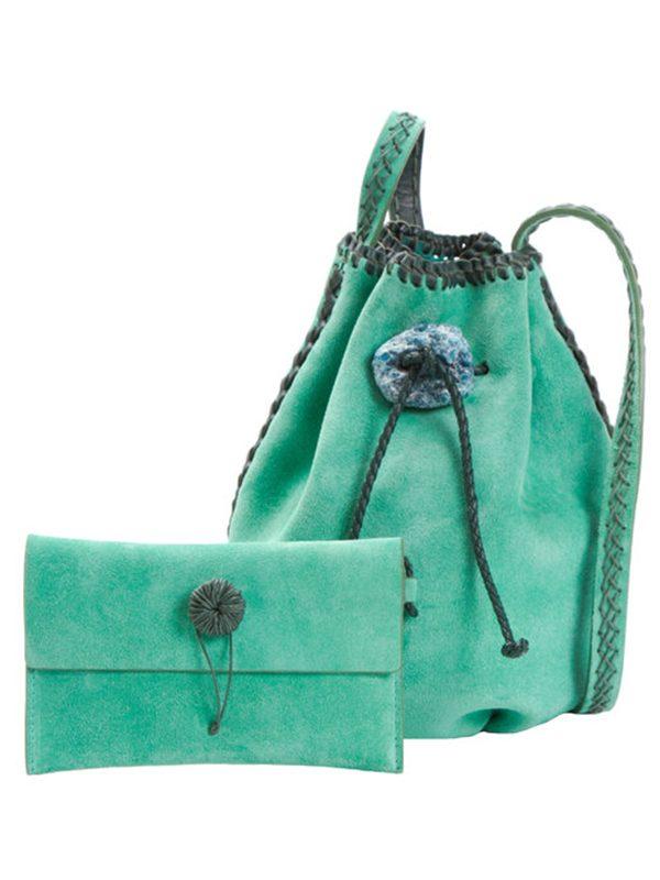 Nirmala Turquoise & Pine (Suede)