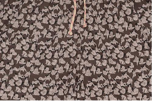 'Eat Girl' Swimming Trunks (Brown)