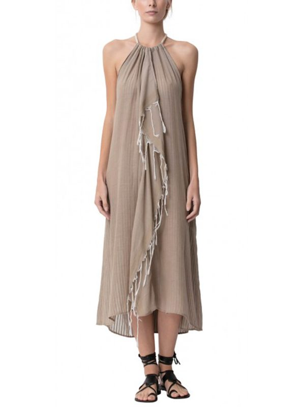 Tina Halter Dress (Sand)
