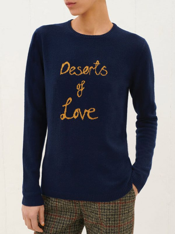 Deserts Of Love Cashmere Jumper (Navy)