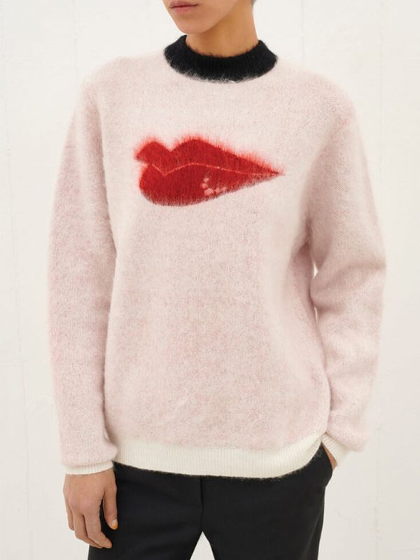 Hot Lips Mohair Jumper (Ivory)