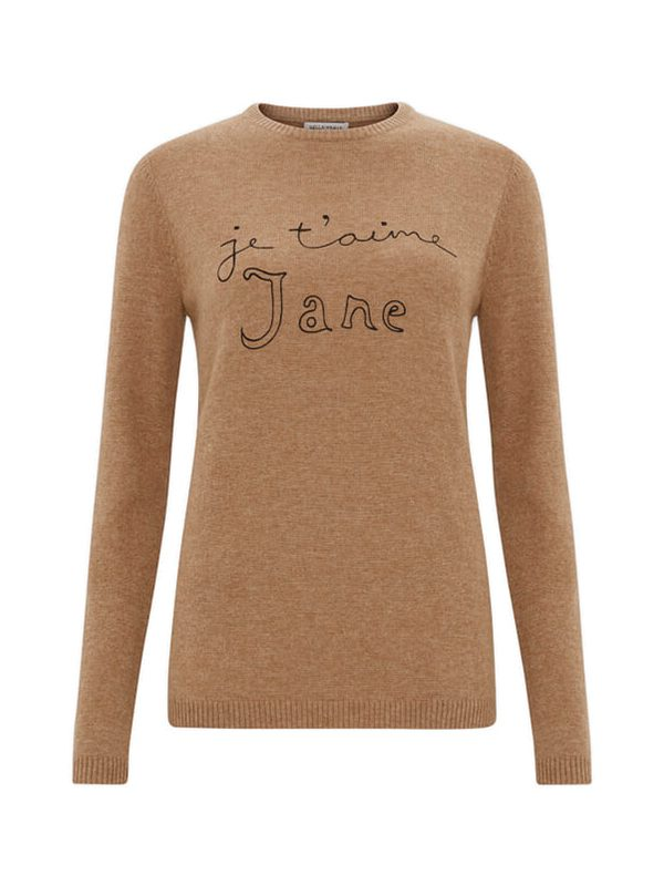 Je t'aime Jane Jumper (Biscuit)