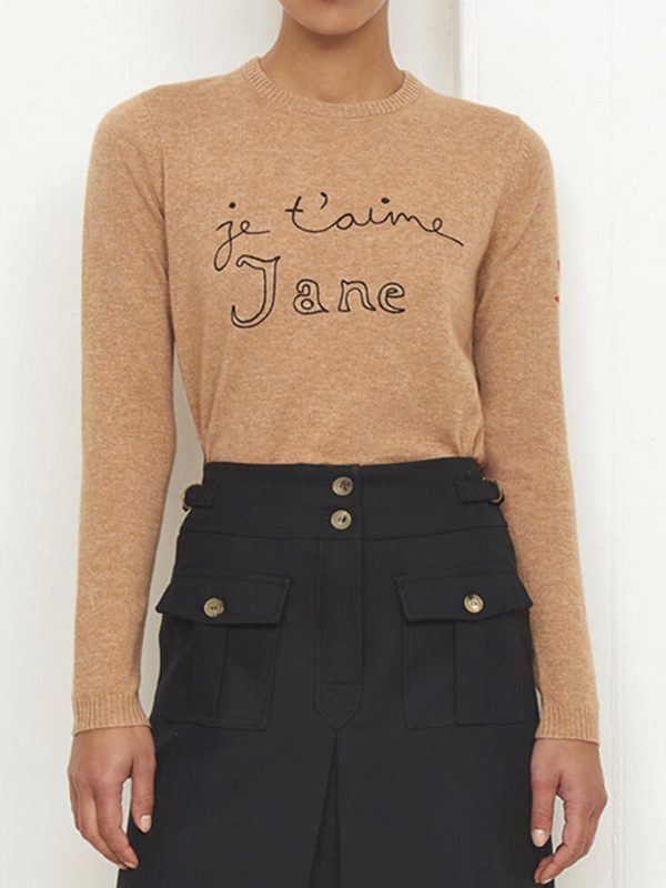 Je t'aime Jane Jumper (Biscuit)
