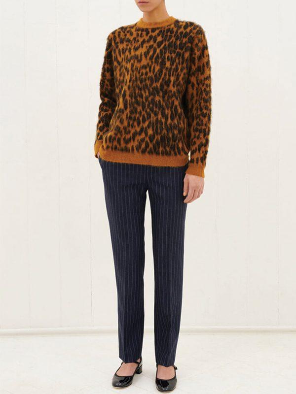 Leopard Mohair Jumper